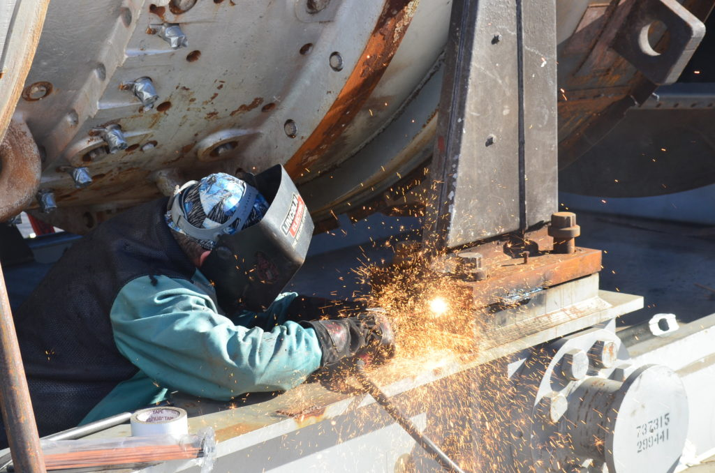 UBC millwright welding steel