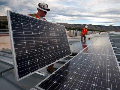 UBC millwrights installing solar panels