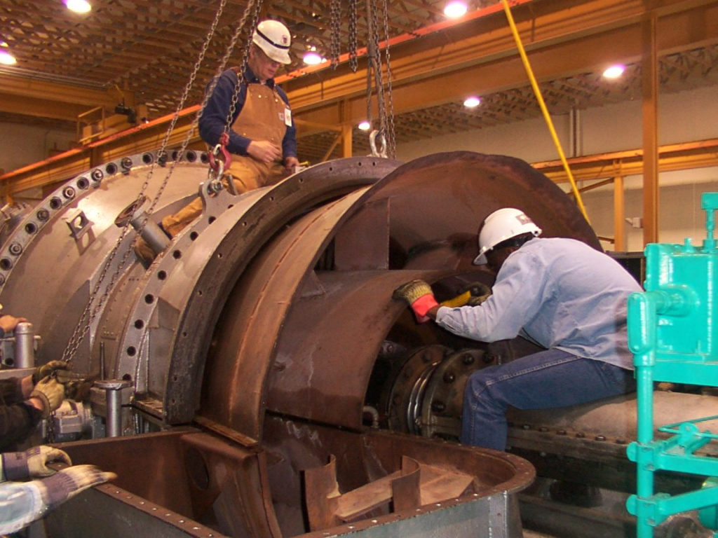 UBC millwrights inspecting industrial equipment