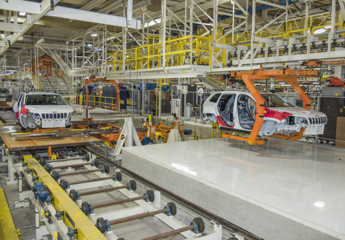 UBC millwrights work on automobile assembly line