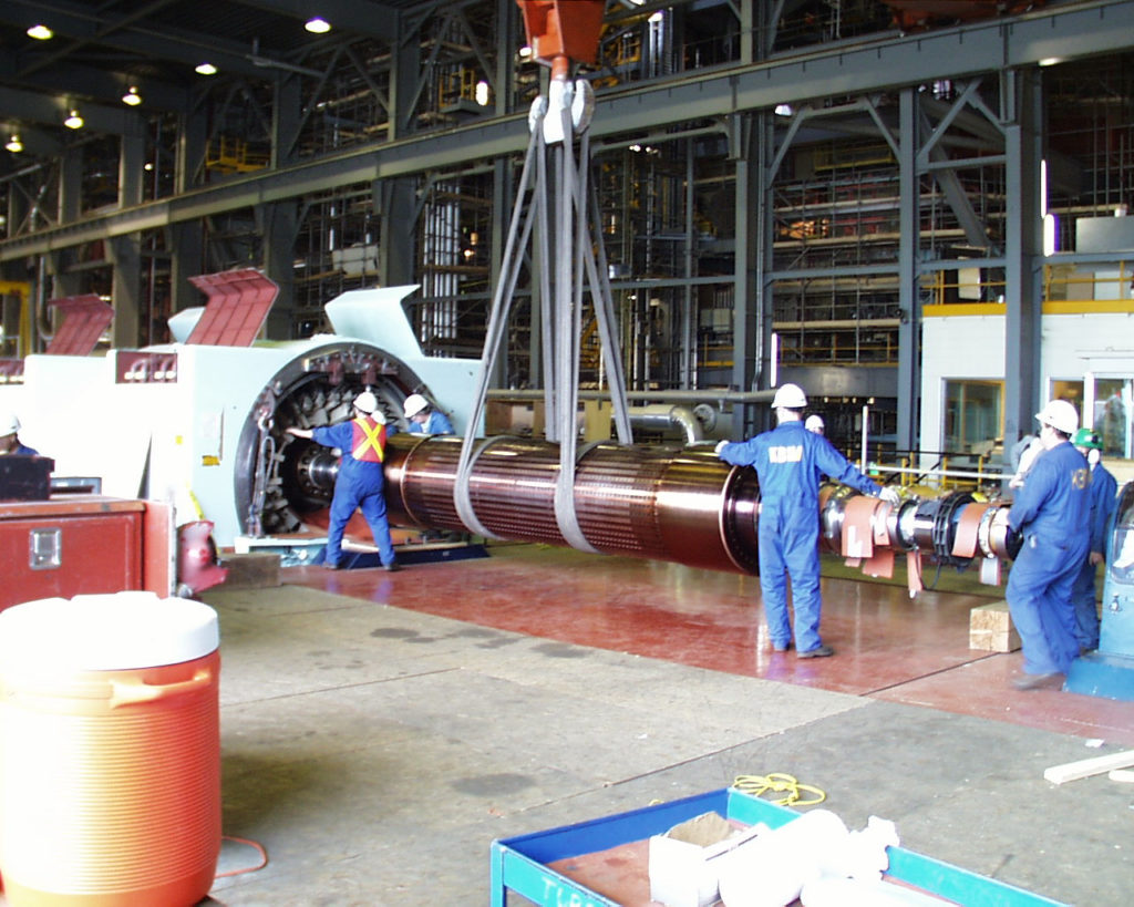 UBC millwrights assemble large turbine
